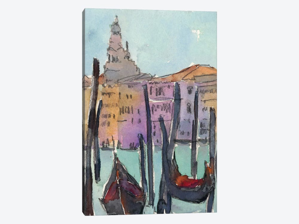 Venice Plein Air IV by Samuel Dixon 1-piece Canvas Artwork