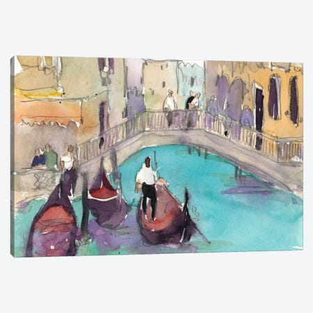Venice Plein Air V Canvas Print #DIX16} by Samuel Dixon Art Print