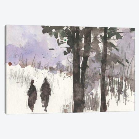 Woodland Sketch I Canvas Print #DIX19} by Samuel Dixon Canvas Wall Art