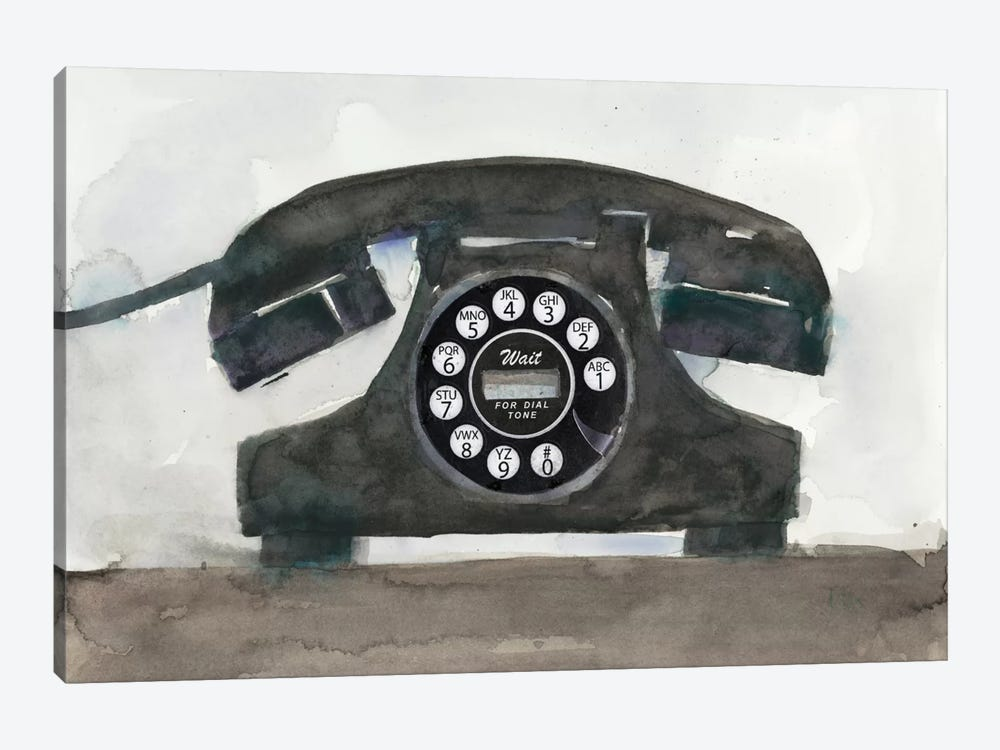 Phoning II by Samuel Dixon 1-piece Canvas Artwork