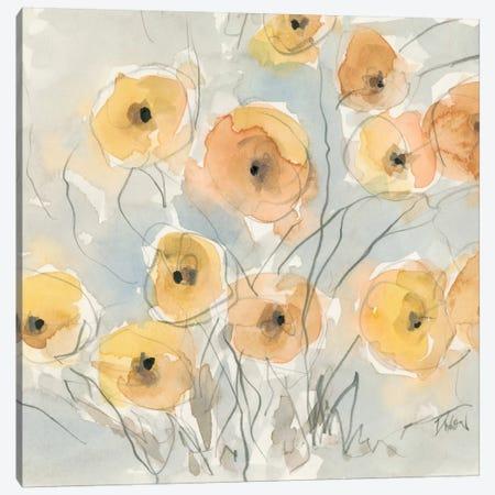 Sunset Poppies I Canvas Print #DIX27} by Samuel Dixon Canvas Wall Art