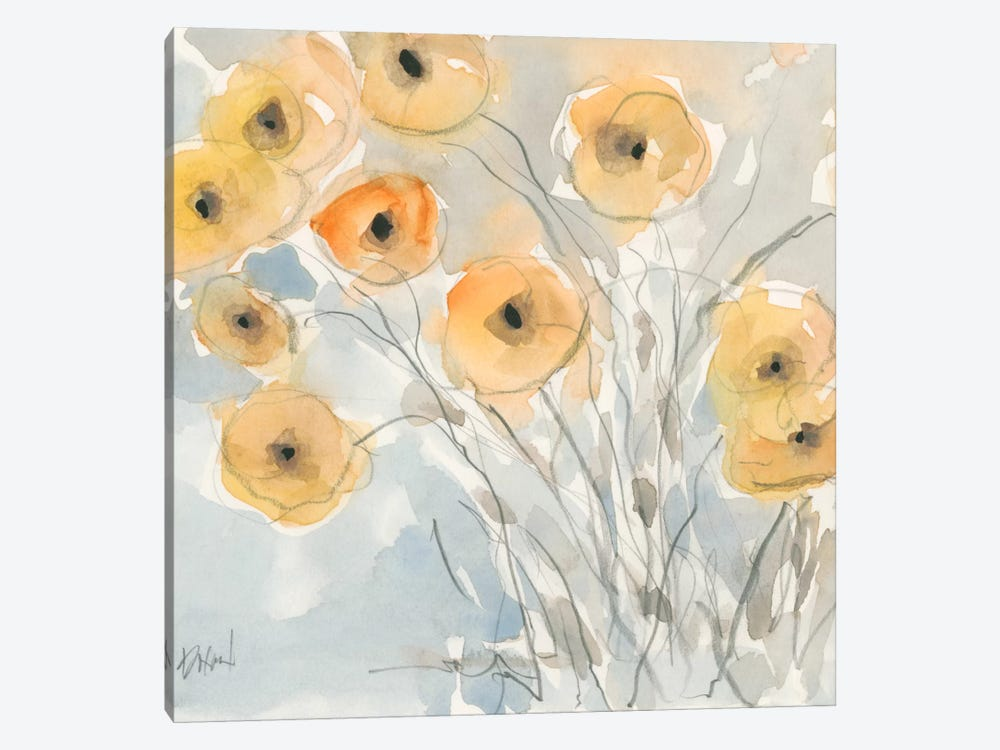Sunset Poppies II by Samuel Dixon 1-piece Canvas Art