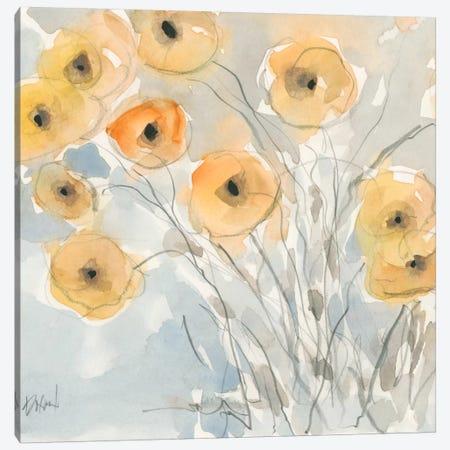 Sunset Poppies II Canvas Print #DIX28} by Samuel Dixon Art Print