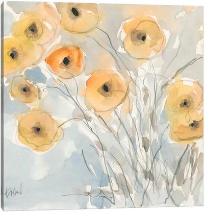 Sunset Poppies II Canvas Art Print