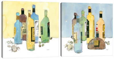 Garlic And Oil Diptych Canvas Art Print