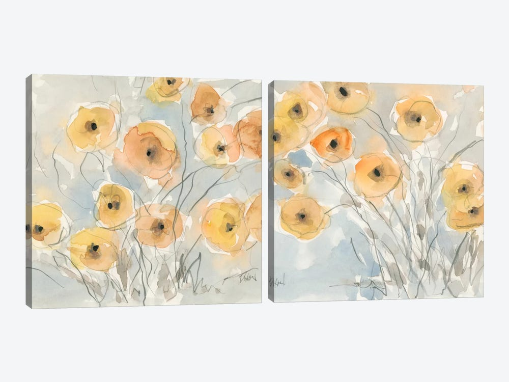 Sunset Poppies Diptych by Samuel Dixon 2-piece Art Print