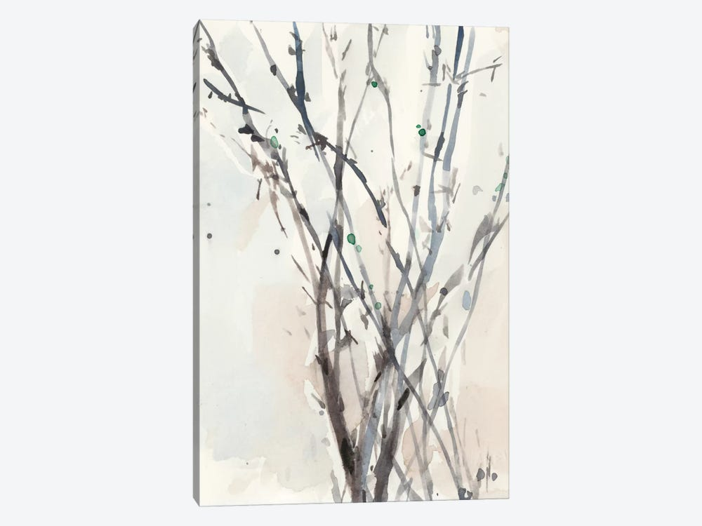 Watercolor Branches II 1-piece Canvas Print