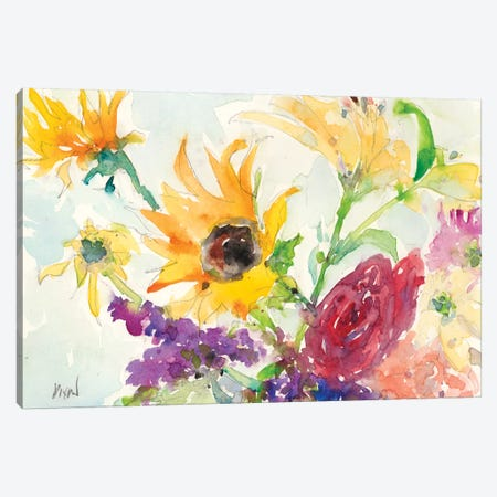 Bright Wild Flowers I Canvas Print #DIX37} by Samuel Dixon Canvas Print