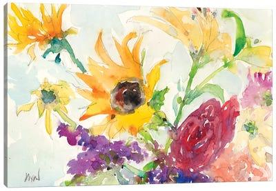 Bright Wild Flowers I Canvas Art Print