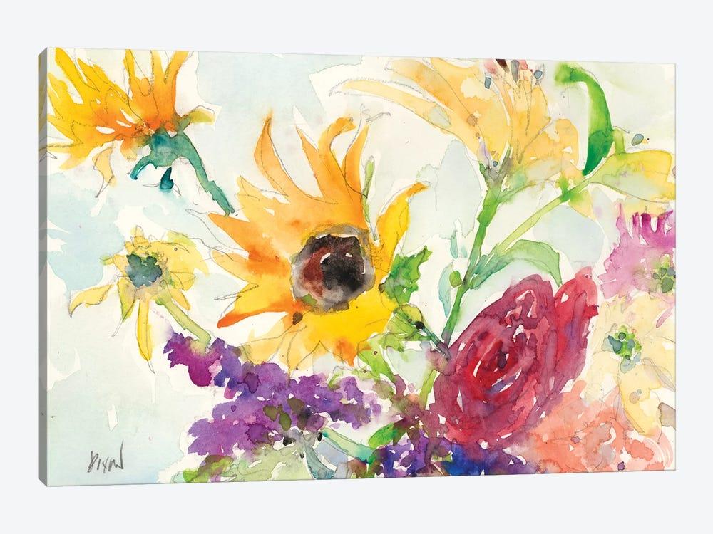 Bright Wild Flowers I by Samuel Dixon 1-piece Canvas Art