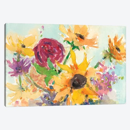 Bright Wild Flowers II Canvas Print #DIX38} by Samuel Dixon Canvas Artwork
