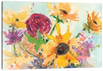 Bright Wild Flowers II Canvas Art Print