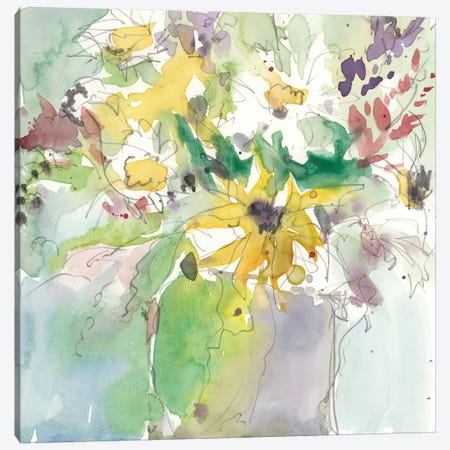 Daisy Vase II Canvas Print #DIX42} by Samuel Dixon Canvas Print