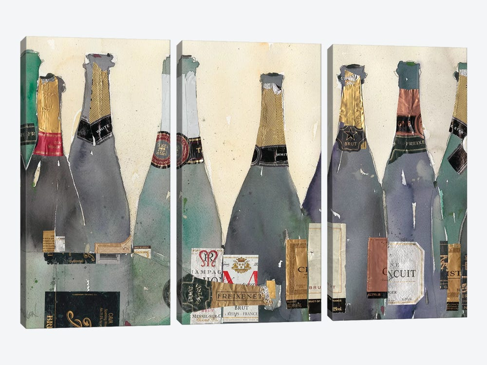 Uncorked II by Samuel Dixon 3-piece Canvas Art Print