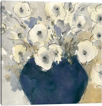 White Blossom Study II Canvas Art Print