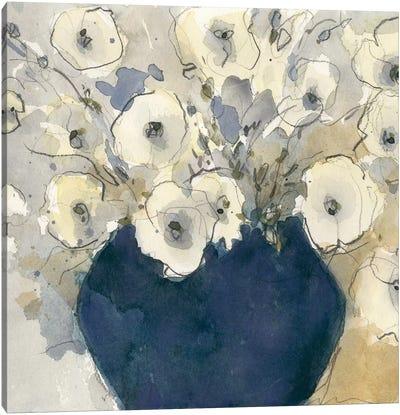 White Blossom Study II Canvas Art Print