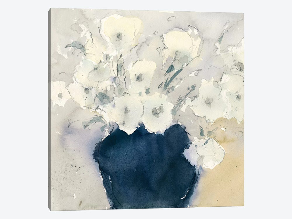 White Bouquet by Samuel Dixon 1-piece Canvas Artwork