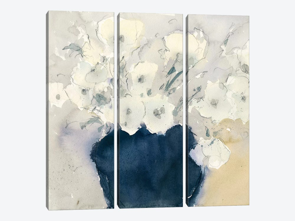 White Bouquet by Samuel Dixon 3-piece Canvas Art