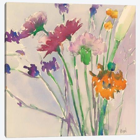 Wild Flower Cuttings Canvas Print #DIX58} by Samuel Dixon Canvas Artwork