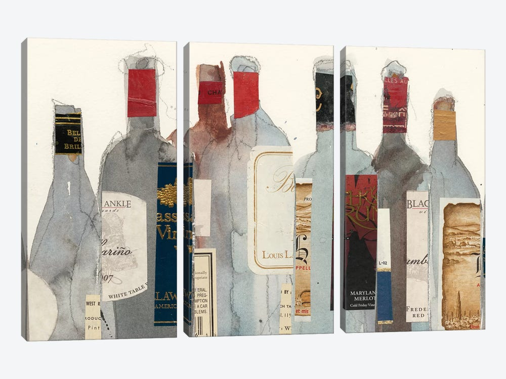 Wine & Spirit I by Samuel Dixon 3-piece Canvas Wall Art