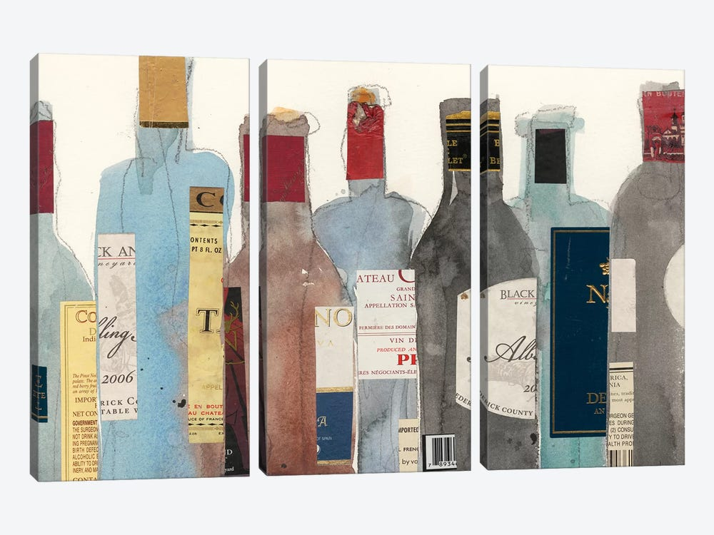 Wine & Spirit II by Samuel Dixon 3-piece Canvas Art