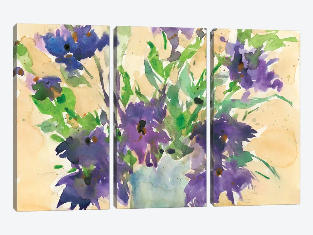 Floral Wild Thing I by Samuel Dixon 3-piece Canvas Print
