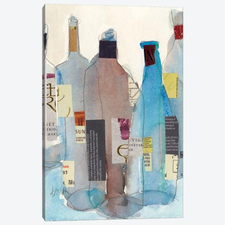 The Wine Bottles I Canvas Print #DIX69} by Samuel Dixon Art Print