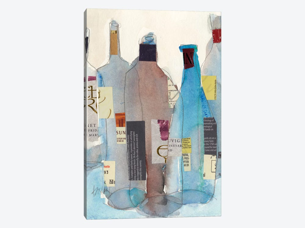 The Wine Bottles I by Samuel Dixon 1-piece Canvas Art Print