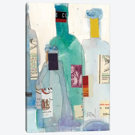 The Wine Bottles II Canvas Print #DIX70} by Samuel Dixon Canvas Art