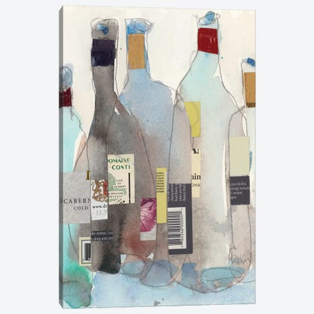 The Wine Bottles III Canvas Print #DIX71} by Samuel Dixon Canvas Art