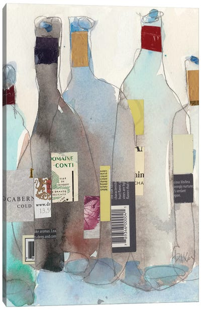 The Wine Bottles III Canvas Art Print