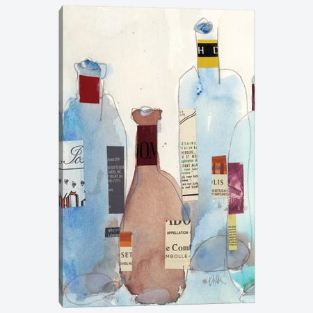 The Wine Bottles IV Canvas Print #DIX72} by Samuel Dixon Canvas Art