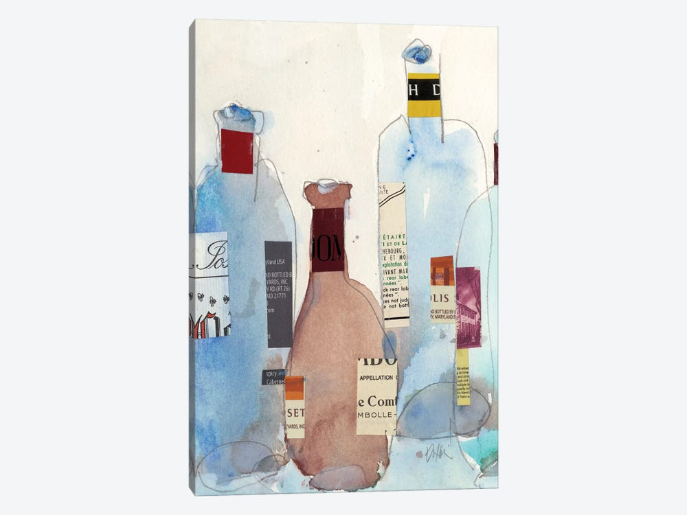 The Wine Bottles IV by Samuel Dixon 1-piece Canvas Print