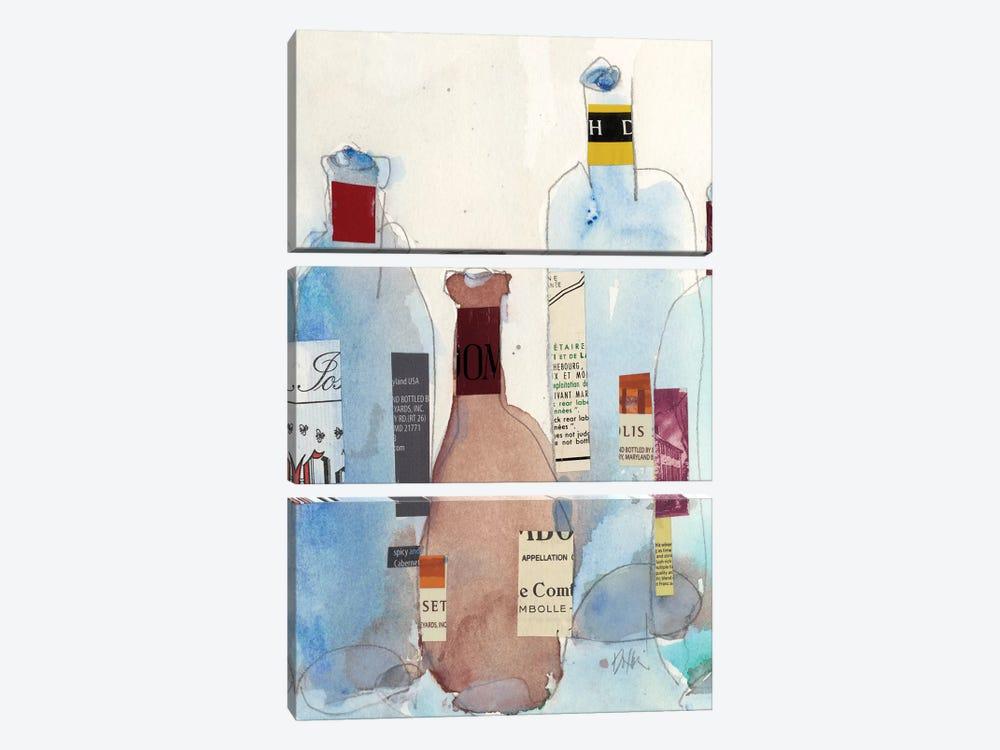 The Wine Bottles IV by Samuel Dixon 3-piece Canvas Print