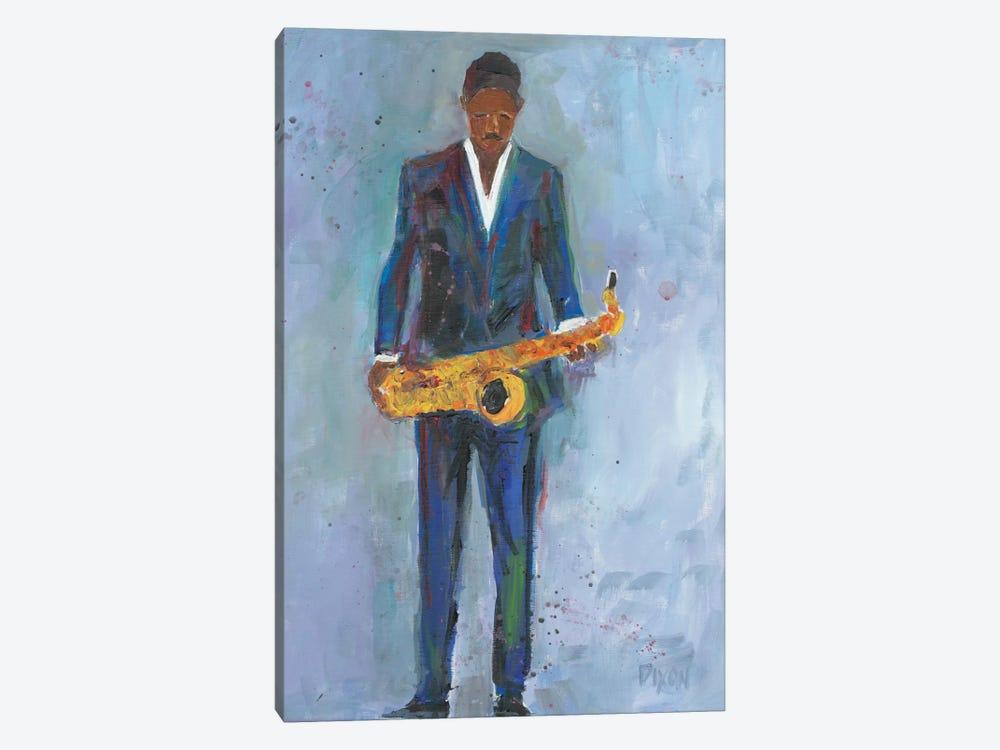 Sax In A Blue Suit by Samuel Dixon 1-piece Canvas Art