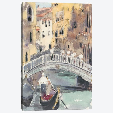 Along the Venice Canal Canvas Print #DIX80} by Samuel Dixon Canvas Print