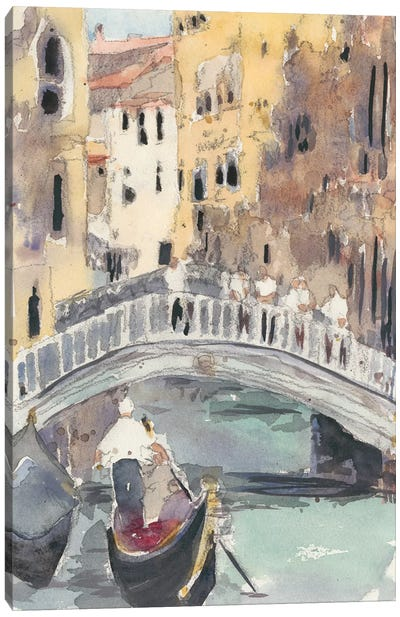 Along the Venice Canal Canvas Art Print