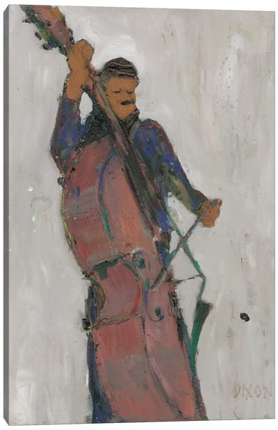 The Man Behind The Bass Canvas Art Print