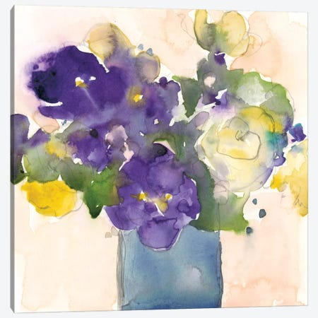 Floral Beauties I Canvas Print #DIX98} by Samuel Dixon Canvas Artwork