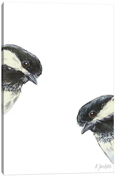 Chickadee Couple Canvas Art Print