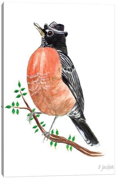Fedora Robin Canvas Art Print