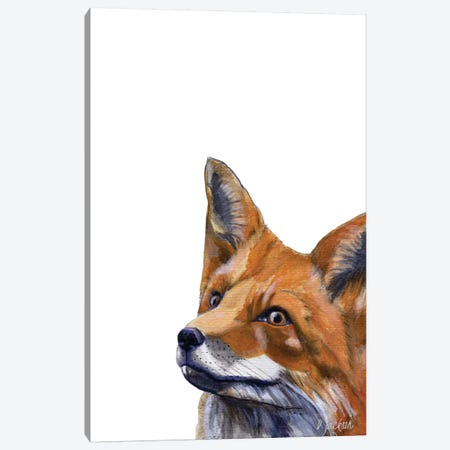 Red Fox Canvas Print #DJA20} by Dawn Jackson Canvas Wall Art