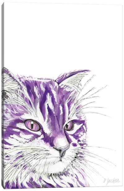 Purple Cat Canvas Art Print