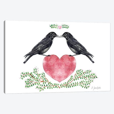 Crow Couple Canvas Print #DJA37} by Dawn Jackson Canvas Wall Art