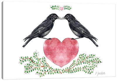 Crow Couple Canvas Art Print