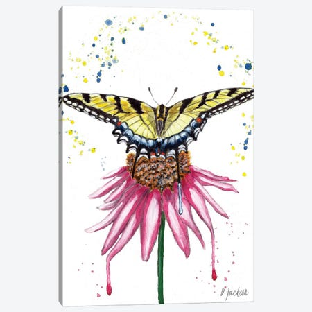 Boho Swallowtail Butterfly Canvas Print #DJA41} by Dawn Jackson Canvas Art