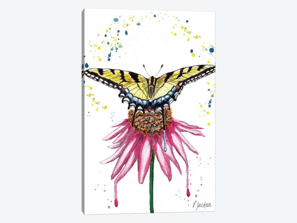 Boho Swallowtail Butterfly by Dawn Jackson 1-piece Canvas Art