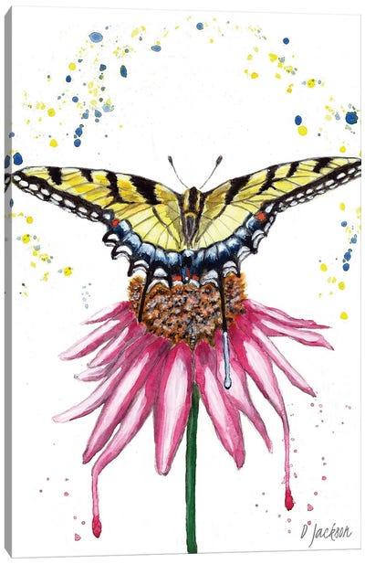 Boho Swallowtail Butterfly Canvas Art Print