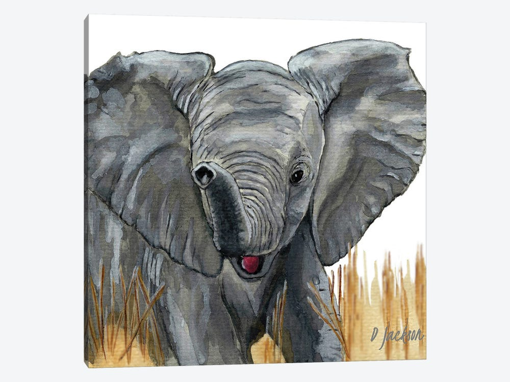 Baby Elephant by Dawn Jackson 1-piece Art Print