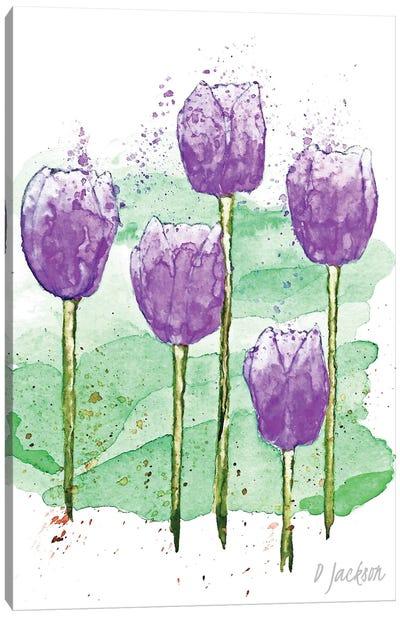 Purple Tulips Canvas Art Print